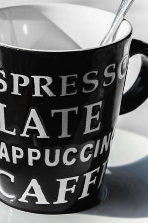 Black and white coffee time
