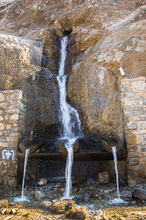 Pure mineral drinking water from the natural mountain source