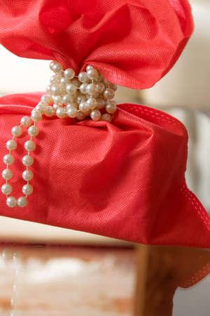 Image of luxury gift. Holidays and celebration concept