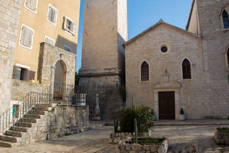 Catholic church of St. John the Baptist - the oldest of the fortified old city of Budva, Montenegro (dates back to the 7th century) Stock Photo