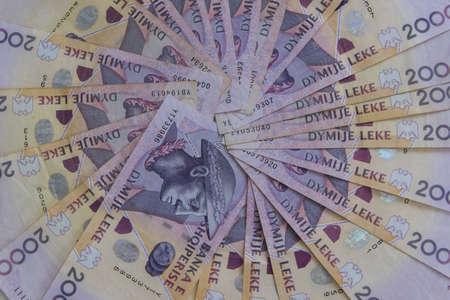 Close up of Albanian LEK. Albania national currency Reklamní fotografie