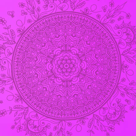 Seamless pattern with mandala element. Vintage decorative elements.  Islam, Arabic, Indian, Ottoman motifs.