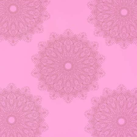 Seamless pattern with mandala element. Vintage decorative elements.  Islam, Arabic, Indian, Ottoman motifs. Stockfoto - 130609735