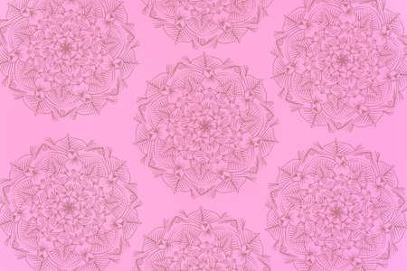 Seamless pattern with mandala element. Vintage decorative elements.  Islam, Arabic, Indian, Ottoman motifs.