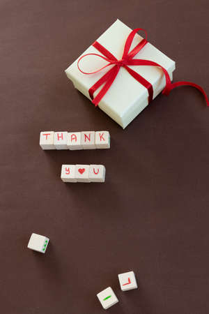 Isolated gift box with