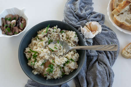Risotto with porcini mushrooms (Boletus edible)