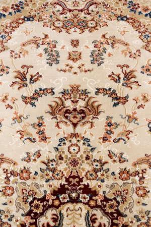 Motif of antique persian carpet, traditional ornamental textile 写真素材