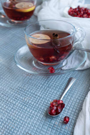 Refreshment time, Tasty homemade biscuits and pomegranate tea