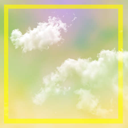 Cloudy abstract background with soft colors and graphic elements. Glowing backdrop, space for text