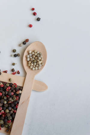 MIx of pepper seeds, spicy and condiment ingredients