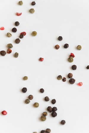 Mix of pepper seeds, spicy and condiment ingredients 版權商用圖片