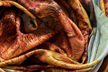 A colorful silky microfiber, swirled into a pattern background Reklamní fotografie