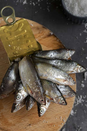 Fresh canned fish, healthy eating ingredients
