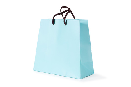 paper shopping bag isolated on white background Stok Fotoğraf - 27447089