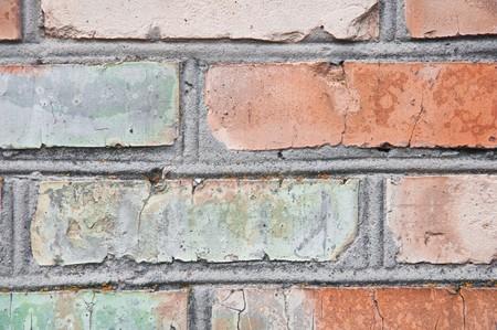 heterogeneous: wall brickwork brown background horizontal close up
