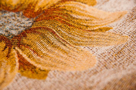 fibra: orange and brown a fabric texture background