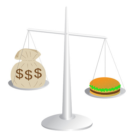 Rising food costs Vector