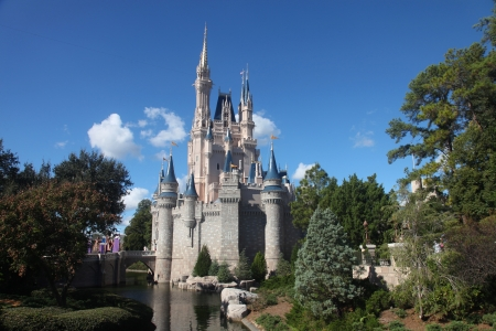 Orlando, Florida, USA, 23 Dec 2011, Disney world, Cinderella Castle