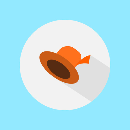 Woman hat vector illustration, flat icon