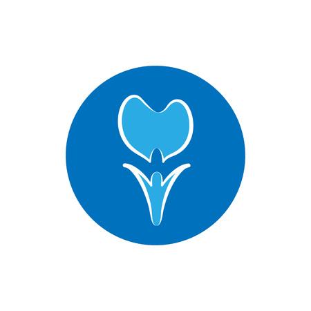 Simple dental logo template design for dental clinic