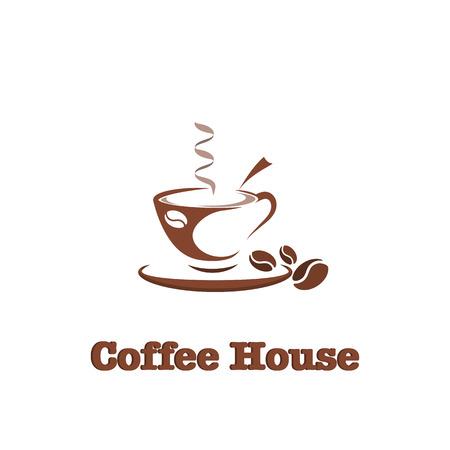 Coffee, hot drink logo design template for coffee house, restaurant menu, banner