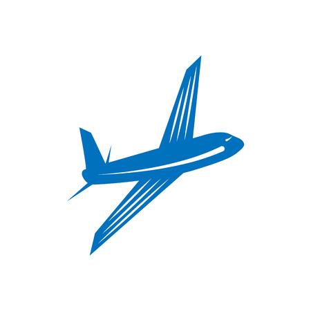 Airplane vector design element, logo, travel agency concept Stock Vector - 98293476