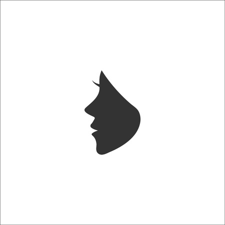 Woman face logo for beauty, massage, cosmetic and spa salon.