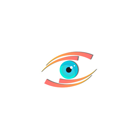 Vision logo concept with eye icon vector design element Stock fotó - 98574422