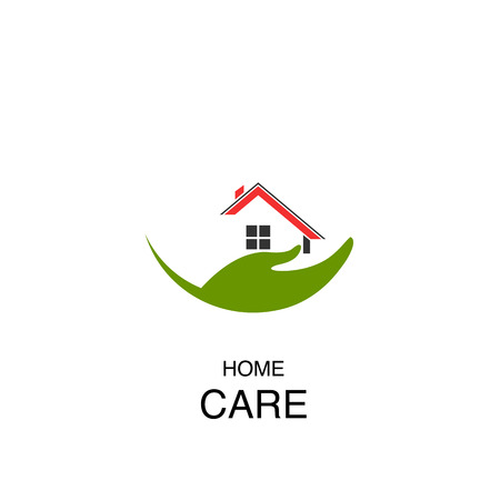 Abstract real estate, house, apartment, building logo vector design template. Home care concept