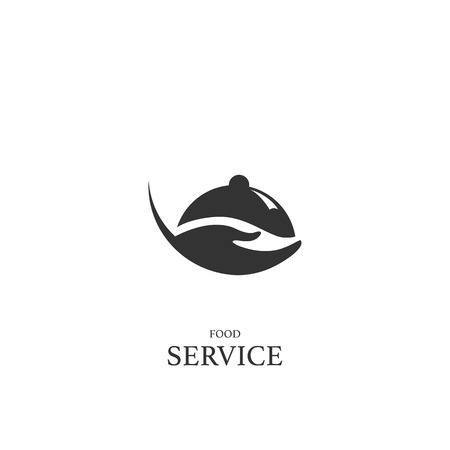 Catering service logo, icon, vector design element