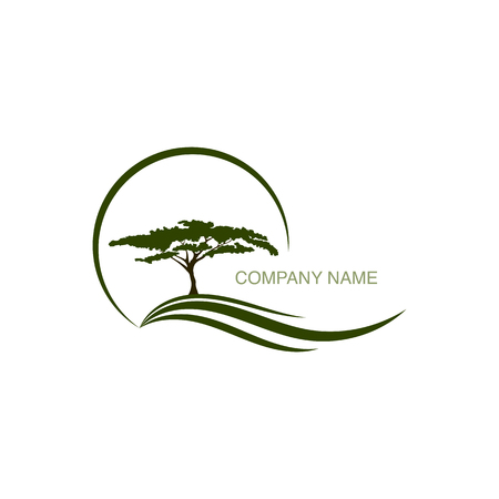 Tree logo vector design element for company