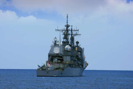 USA destroyer anchored photo