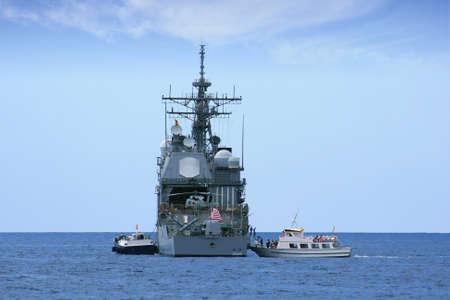 destroyer: USA destroyer anchored