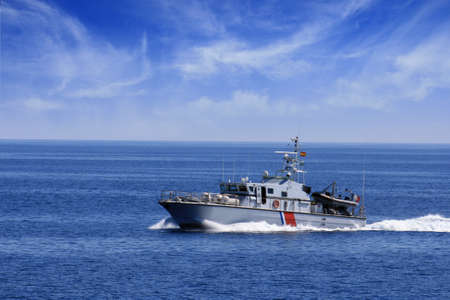 French coastguard in open waters Stock Photo - 15081904