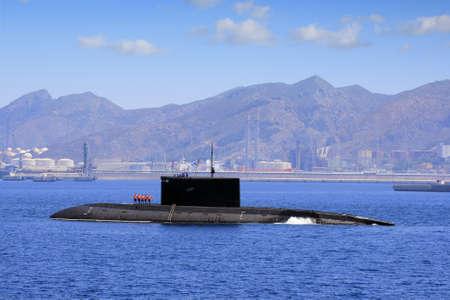 Submarine coming port Stock Photo - 15079774
