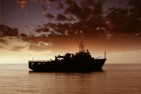 coastguard: Coastguard anchored Stock Photo