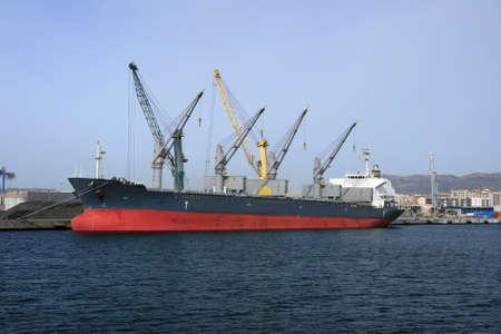 General cargo merchant in port photo