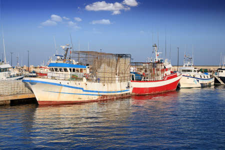 profundity: Fishing boats in port Stock Photo