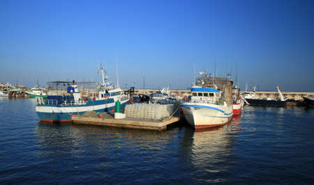 profundity: Fishing boats in port Stock Photo