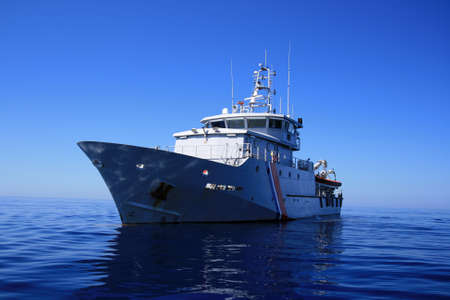 French coastguard in open waters Stock Photo - 15852590