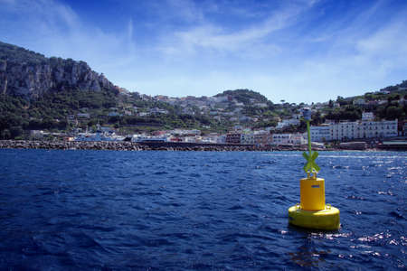 Buoy out the port of Marina grande in Capri island  photo