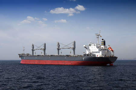 Bullcarrier anchored waiting cargo Stock Photo - 16783363