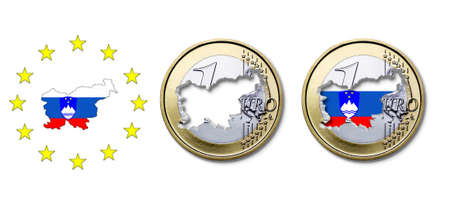 Euro  Slovenia Stock Photo - 17303665