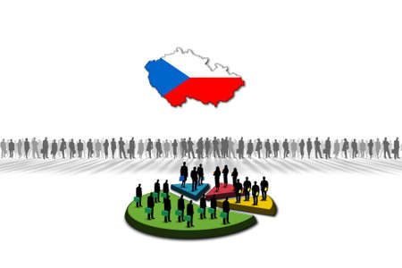 Statistics  Czech Republic Stock Photo - 17303612