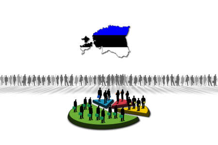 Statistics  Estonia Stock Photo - 17303618