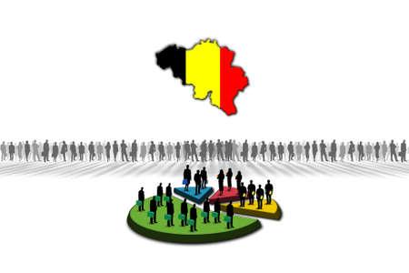 Statistics  Belgium Stock Photo - 17303616