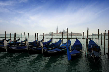 Gondolas in Venice photo
