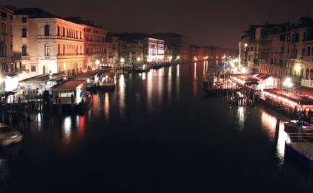 a nocturne: Nocturne in Grand Canal in Venice