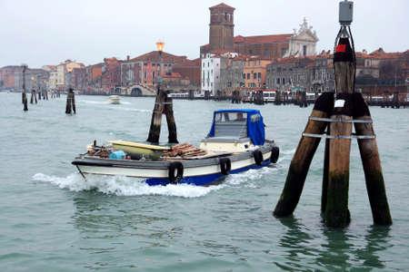 sestiere: Maritime traffic in North Lagoon in Venice Stock Photo