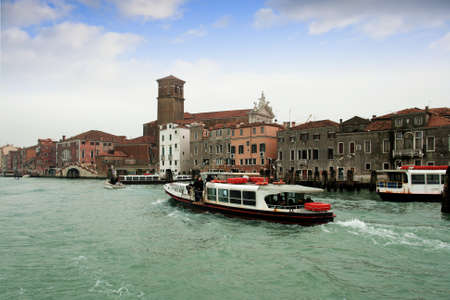 Maritime traffic in North Lagoon in Venice Stock Photo - 17298742